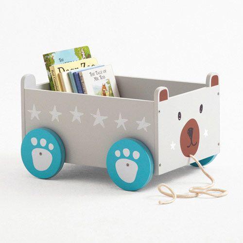 Book Storage Cart Mr Bear