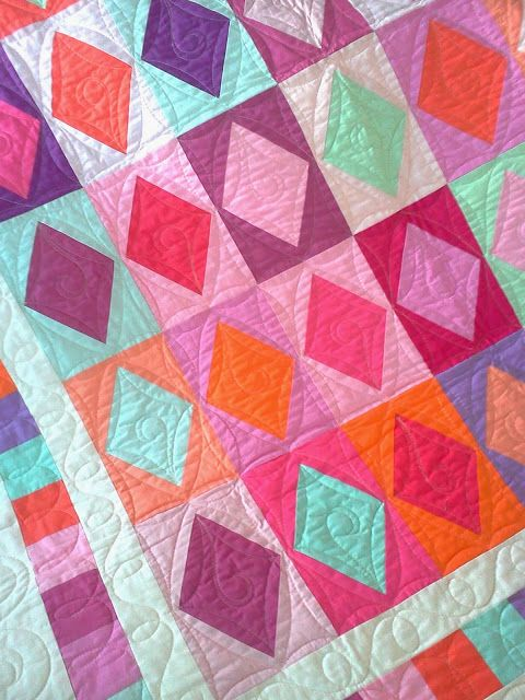 Crazy Old Ladies Quilts: Pretty in Purple - Great, simple quilting