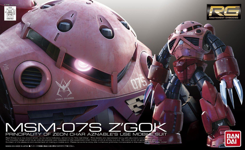 RG 1/144 Zgok Char Custom Gundam, Gundam model, Model