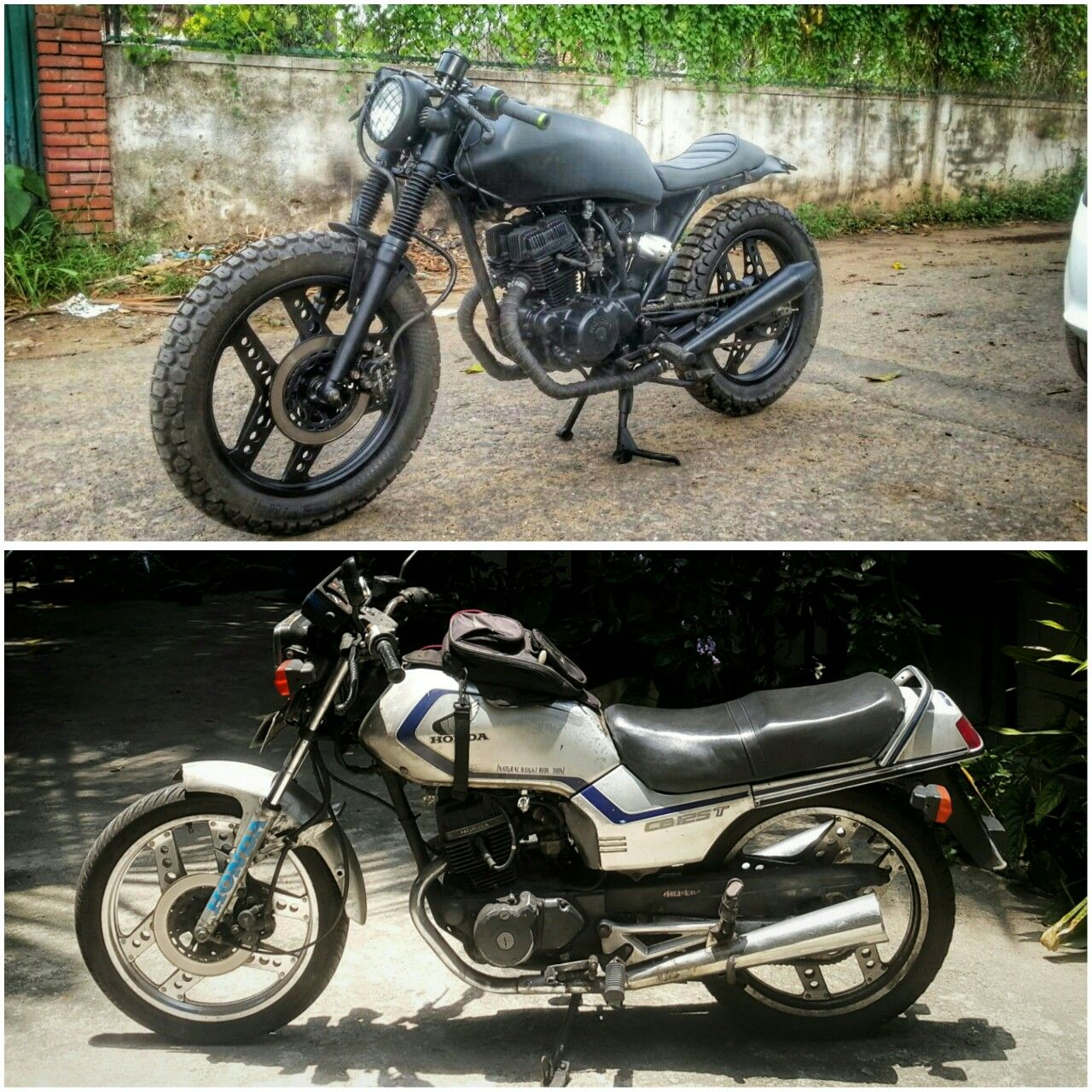 honda cb125t deluxe before and after cafe racer | custom