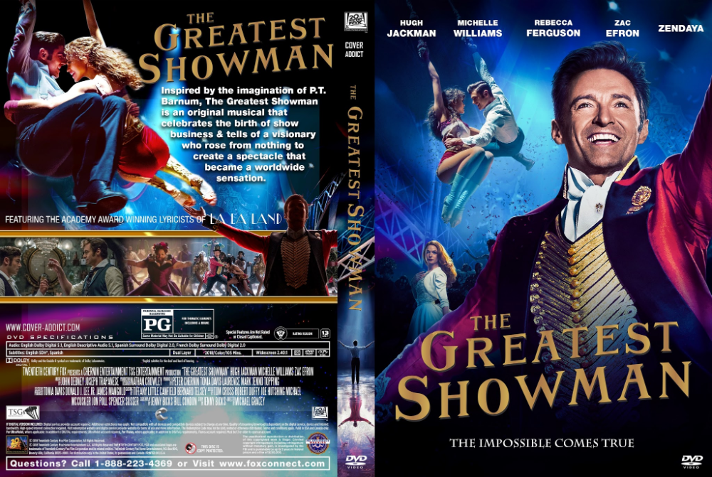 Dvd Cover For The Greatest Showman Google Search Dvd Cover Design Custom Dvd Dvd Covers