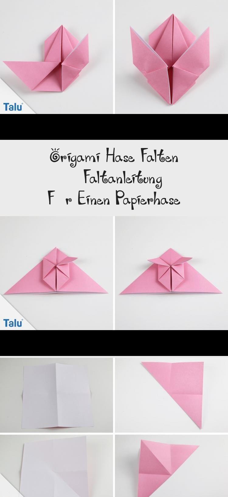 Photo of Anleitung – Origami Hase – talu.de #origamiSwan #origamiDragon #origamiDress #or…