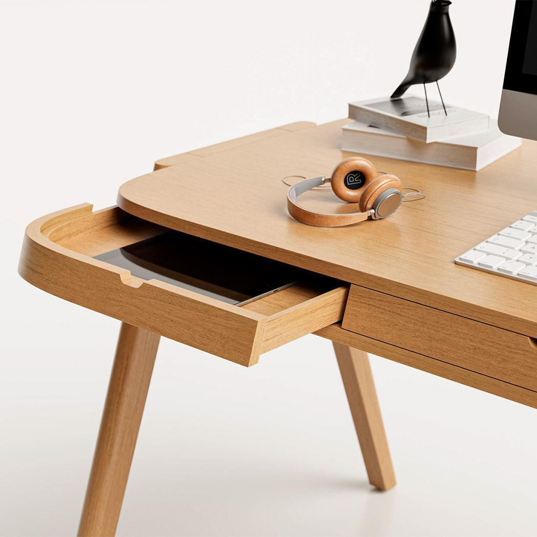 This Desk Design S Attention To Detail Makes It Perfect For Organization Addicts Desk Design Desk Diy Wood Projects Furniture