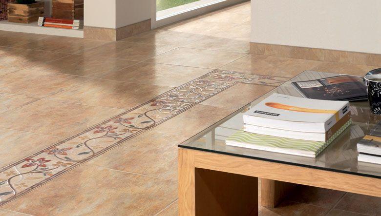 Pavimentos cer micos de estilo rustico de tonos tierra en - Pavimentos ceramicos interiores ...