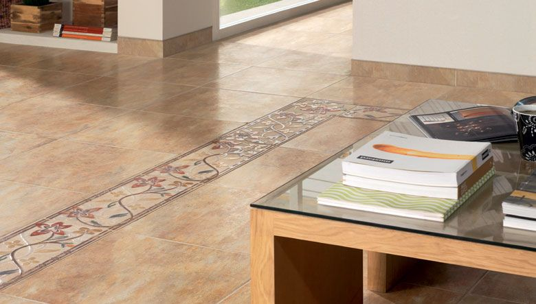 Pavimentos cer micos de estilo rustico de tonos tierra en for Pavimentos ceramicos