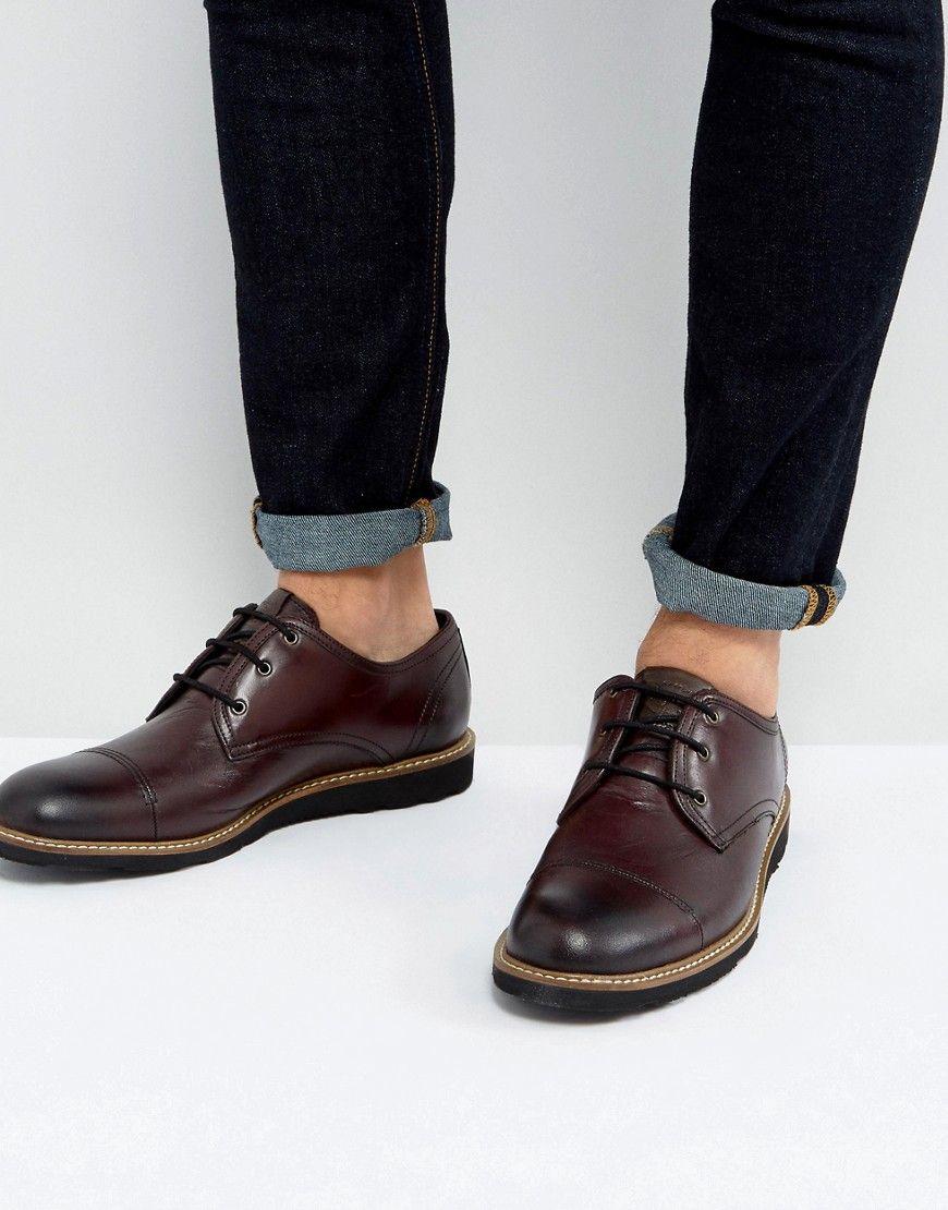 fe66e5396277 ORIGINAL PENGUIN TOE CAP DERBY SHOES IN BORDO - RED.  originalpenguin  shoes