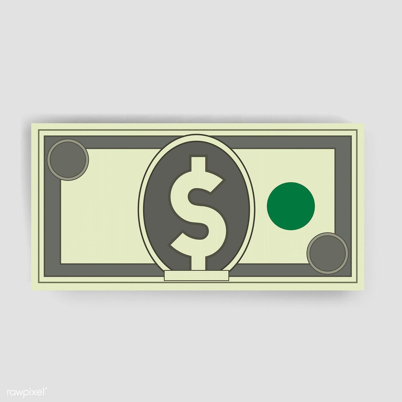 Download Premium Vector Of Dollar Money Finance Icon Vector Illustration Finance Icons Dollar Illustration Dollar Money