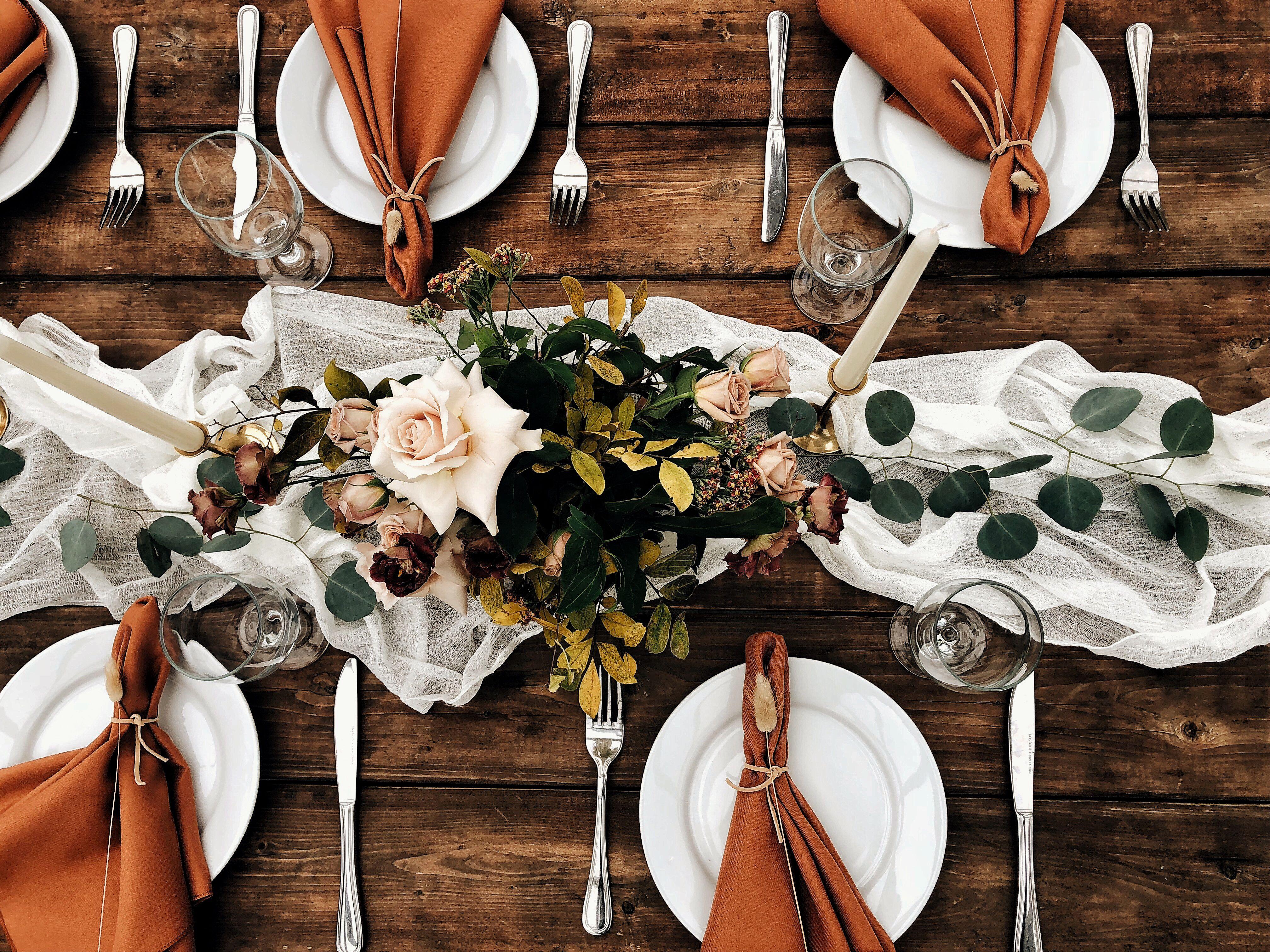 Terracotta Wedding Burnt Orange Weddings Wedding Table Settings Greenhouse Wedding