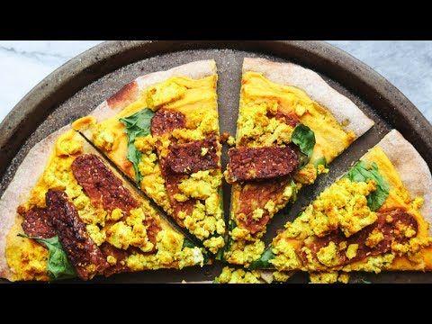 Cheezy Vegan Breakfast Pizza With Smokey Tempeh Bacon Recipe Tempeh Bacon Vegan Breakfast Pizza Enchilada Recipes