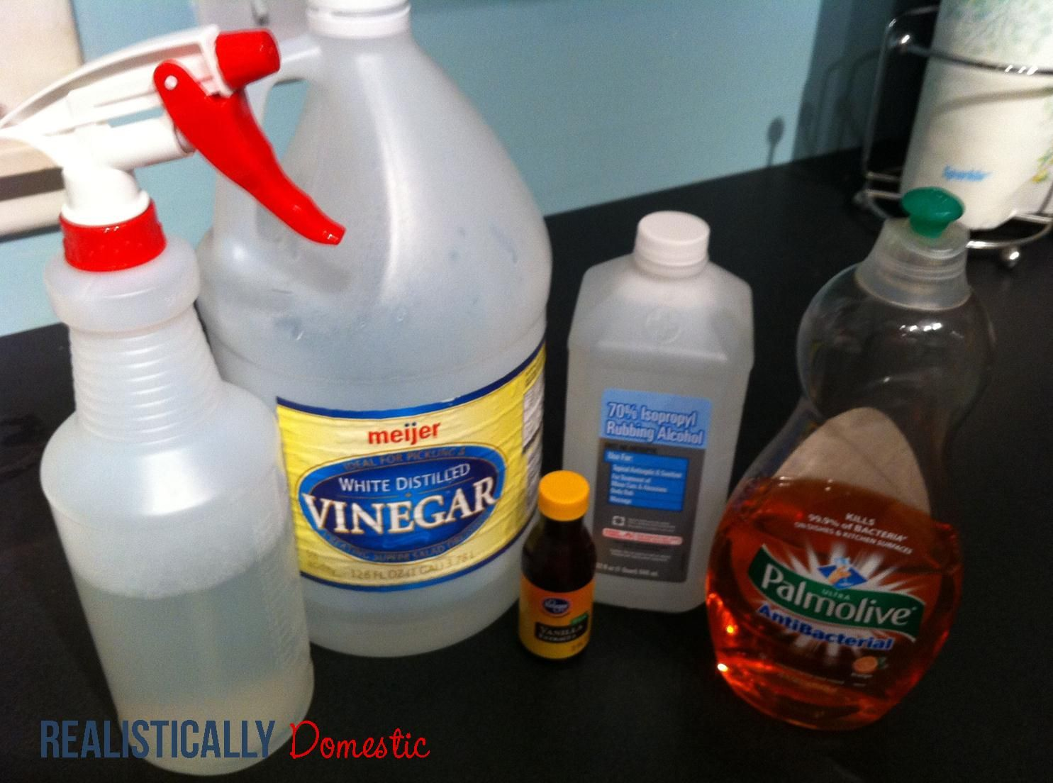 The Perfect All Purpose Cleaner mix equal parts (1 cup
