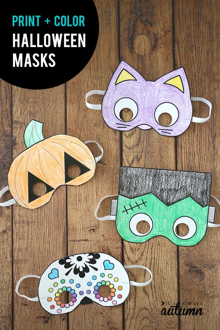 Halloween Craft Ideas For Kids 2nd Grade.Halloween Masks To Print And Color Second Grade