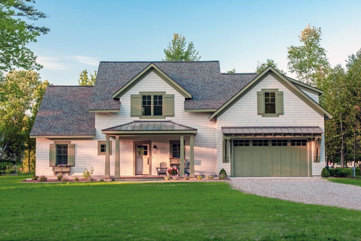 Plan 970056vc Shingle Style House Plan With Game Room And Bunk Room In 2020 Cottage Plan Architectural Design House Plans Cottage House Plans