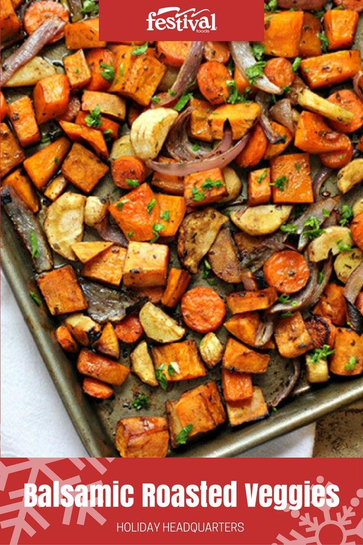 So, Balsamic Roasted Vegetables may seem fallish. But we