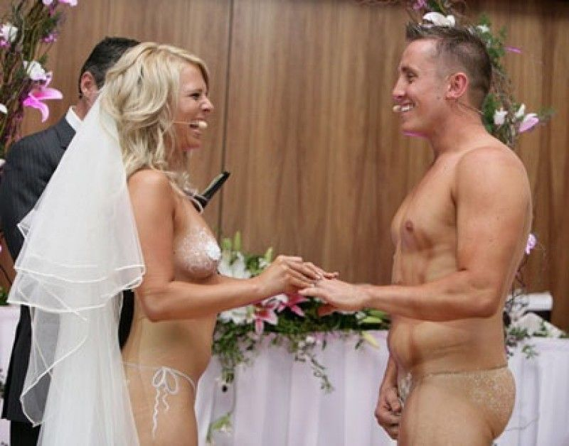 Wedding ceremony nude