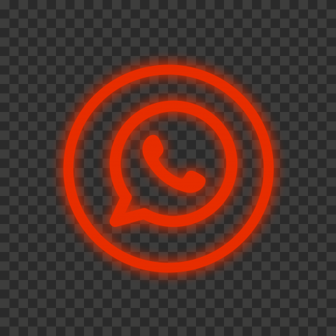 Hd Red Neon Outline Whatsapp Wa Round Circle Logo Icon Png Circle Logos Logo Icons Logos