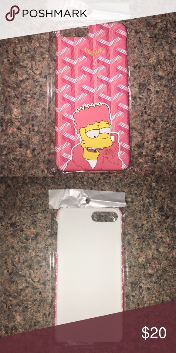 super popular 8791d 57e15 Goyard iPhone 7 Plus Bart Simpson Phone Case Cool iPhone 7 Plus case ...