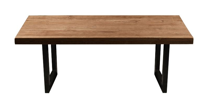 simple pure efficace table basse teck et mtal