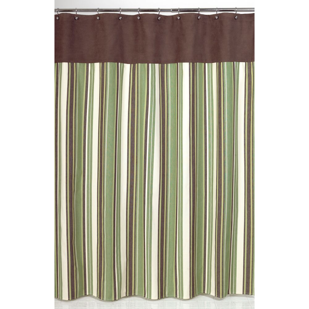 Sinatra silver shower curtain - Sweet Jojo Designs Green And Brown Ethan Shower Curtain By Sweet Jojo Designs