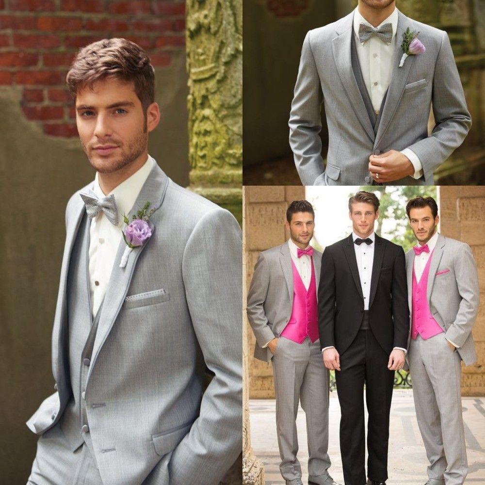 light grey suit wedding party | Tuxedo Design | myself | Pinterest ...