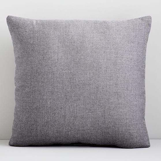 """Sunbrella Indoor/Outdoor Cast Pillow, Set of 2, Slate, 24""""x24"""""""