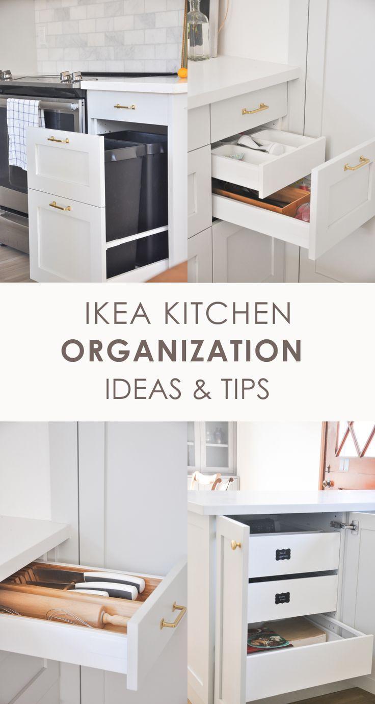 IKEA Kitchen Organization Ideas and Hacks   IKEA Kitchen Tour ...