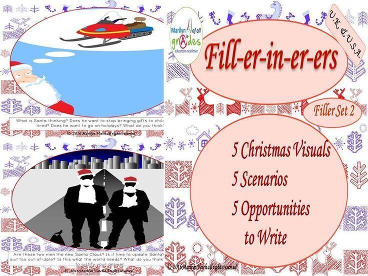 Christmas Writing Fill-er-in-er-er - Set 2 Tes Halloween