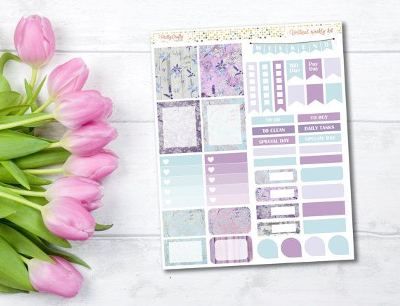 Pretty Planner stickers Lavender planner stickers purple planner stickers affiliate link