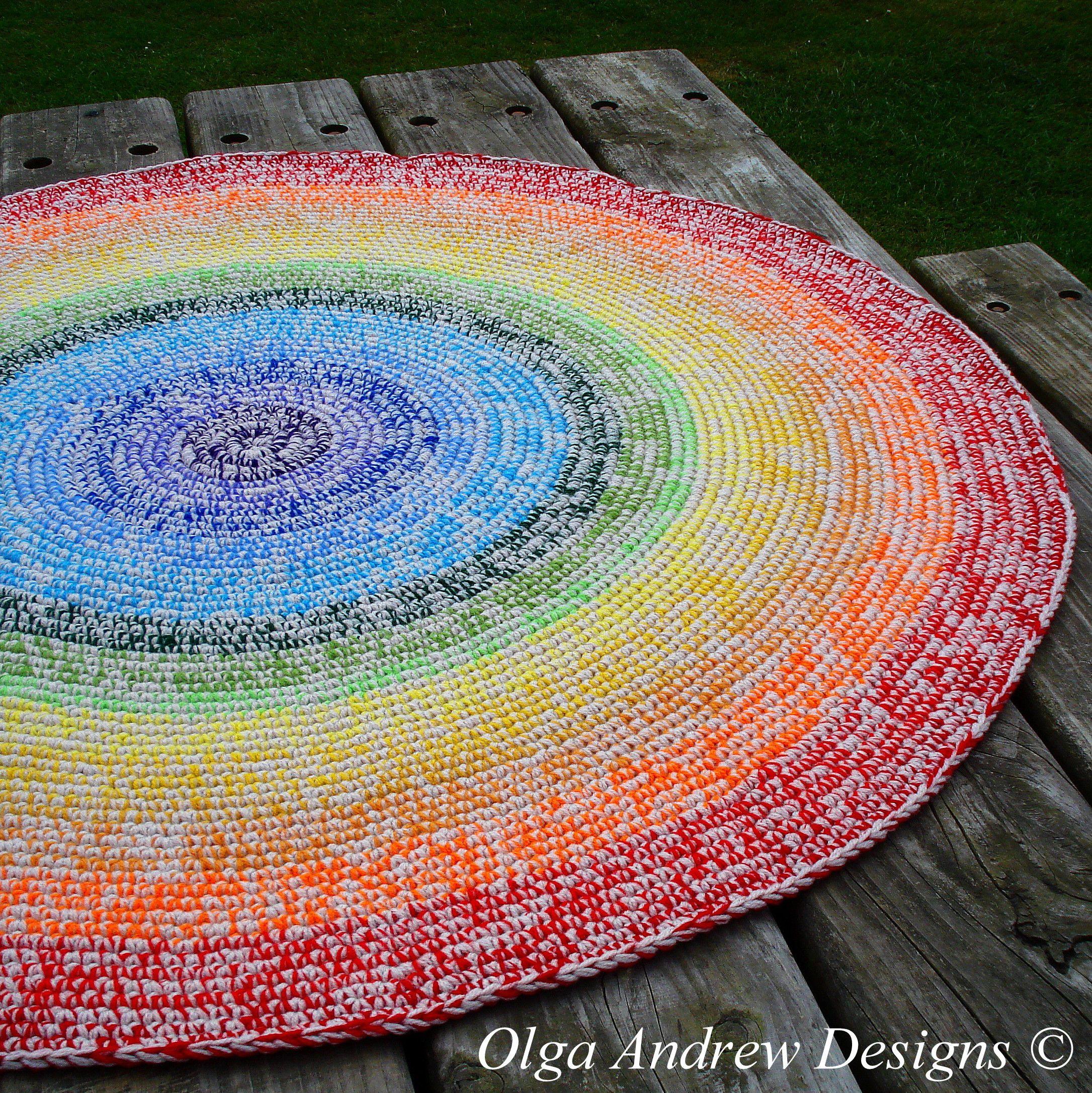 Rainbow Crochet Rug Rainbow Rug Crochet Rainbow Crochet Round Rug Crochet Area Rug Crochet Floor Rug Nursery Rug Childrens Rug Rugs With Images Rainbow Rug Crochet Rug Rainbow Crochet