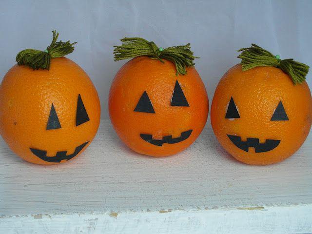 Boulevard Pink: DIY Decoración Halloween - Quien no tiene calabaza decora con ....naranjas