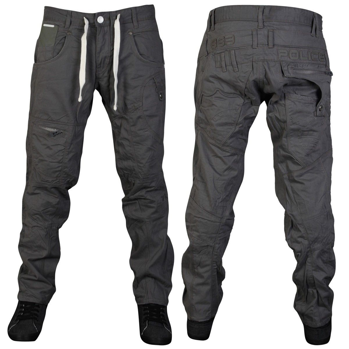 Mens Grey 883 Police Otif Tapered Fit Cargo Pants Trousers All Waist   Leg  Sizes Image 0 7e1a025dfae
