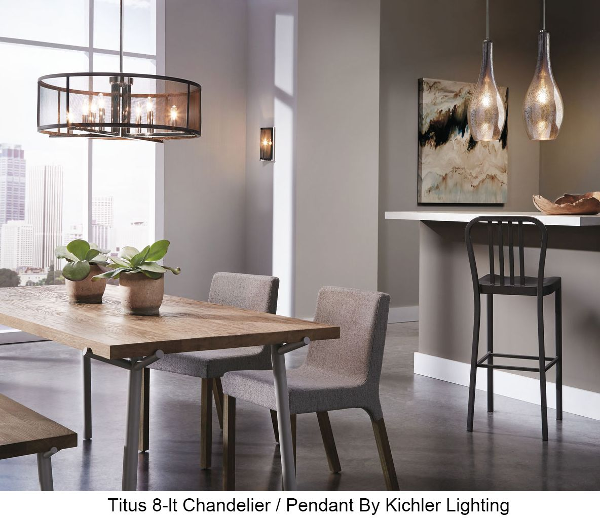 23 Dining Room Chandelier Designs Decorating Ideas: Kichler 43715 Titus 8-lt Chandelier/Pendant
