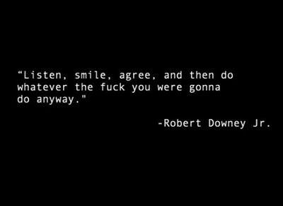 Robert Downey Jr. I love you.
