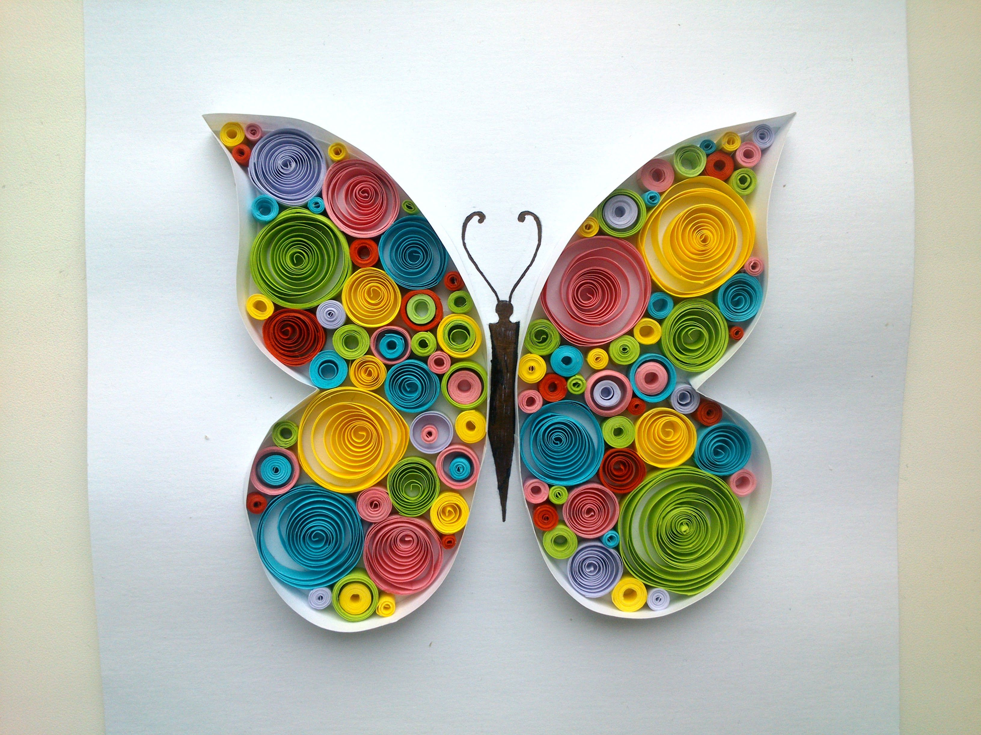 Paper Quilling: Butterfly Quilling Tutorial. - YouTube | Qiulling ... for Quilling Butterfly Tutorial  183qdu