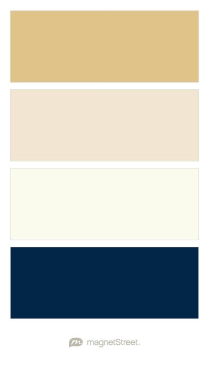 Gold Champagne Ivory And Navy Wedding Color Palette
