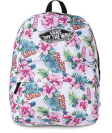 Vans Realm Hawaiian White Backpack | Purses, Wallets, Suitcases, and ...