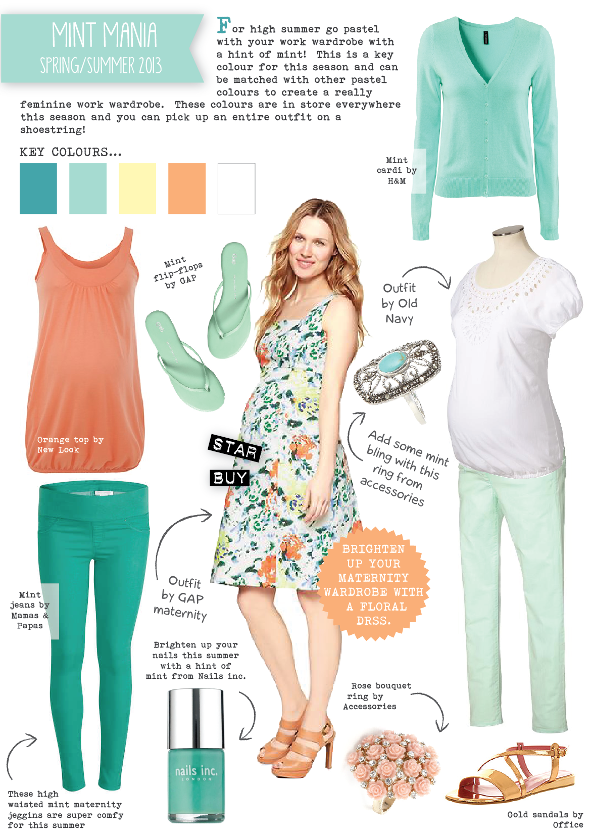 32991f406d8 Maternity Office wear Spring Summer 2013 (part 3) by Fashion Designer Emily  Kiddy- Love the colors!!