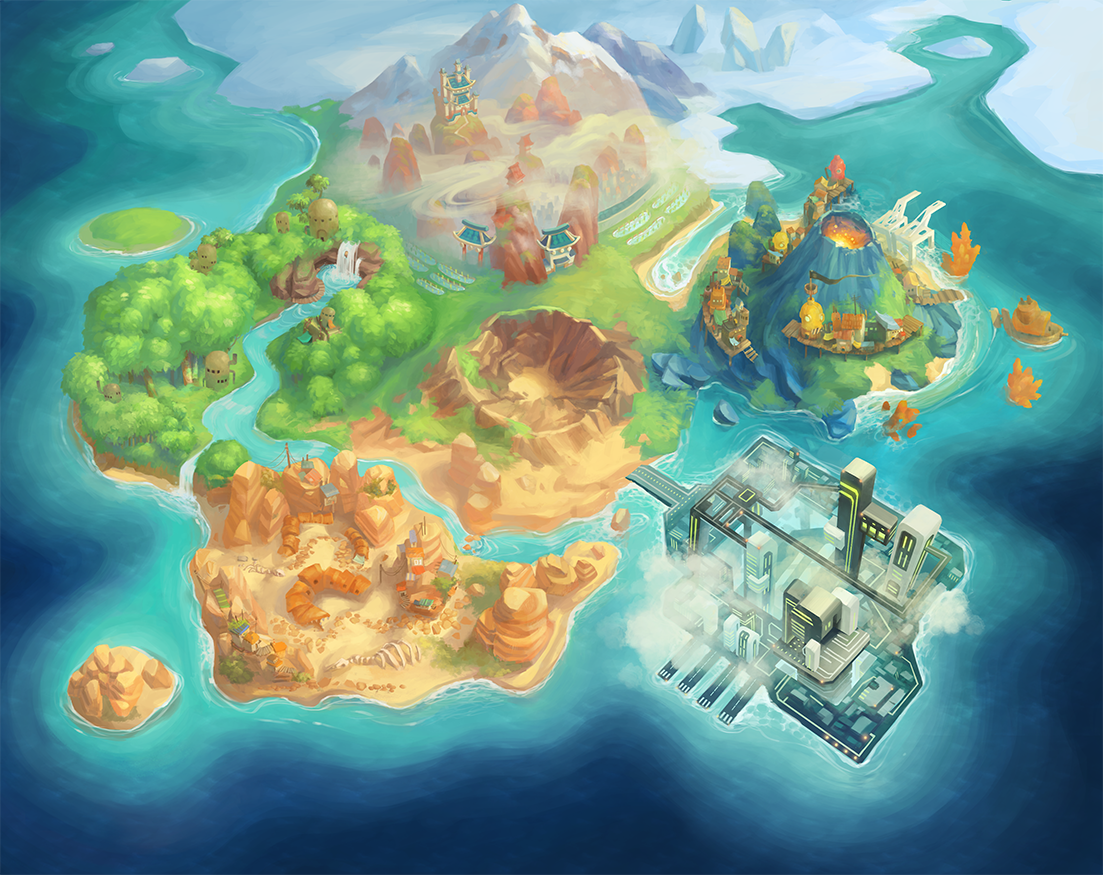 the art of mary shu Game Environment Art Дизайн