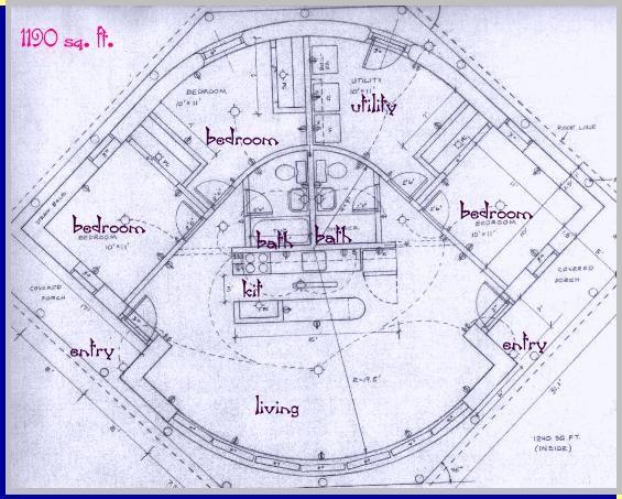 A 1190 Sq Ft Straw Bale House Plan Plan Maison Plan De Maison Maison Moderne