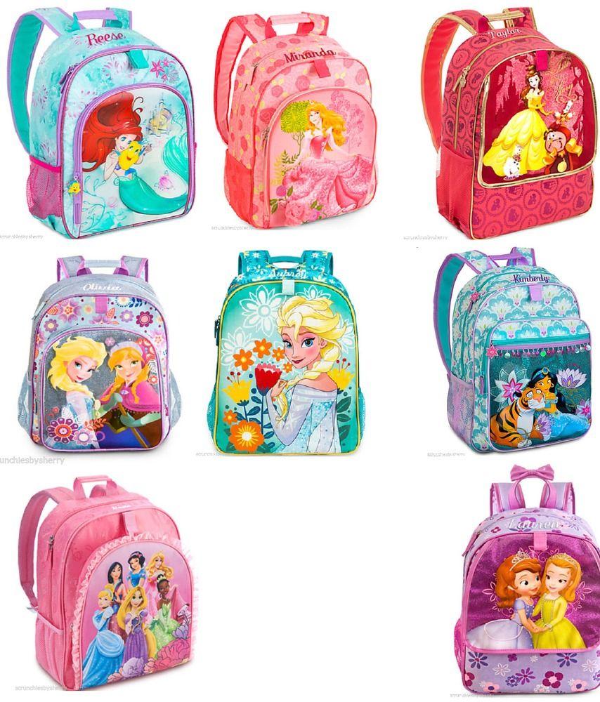 a325b36c7b7 Disney Store Backpack Frozen Ariel Belle Aurora Sofia Princess  DisneyStore   Backpack