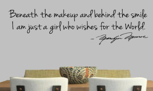 Marilyn Monroe Wall Decals: Beneath The Makeup And Behind The Smile, I Am  Just