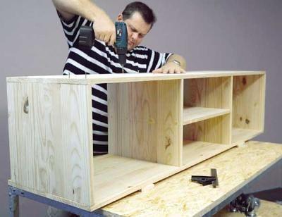 diy tv stand plans tv stands pinterest diy tv stand. Black Bedroom Furniture Sets. Home Design Ideas