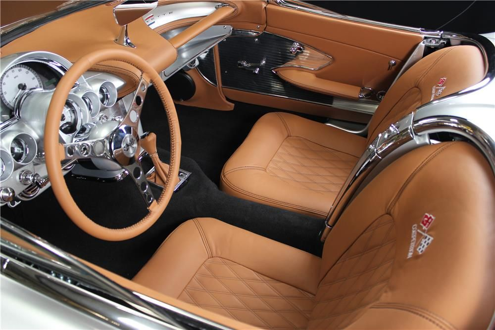 1961 Chevrolet Corvette Custom Convertible Interior 180663 Custom Car Interior Car Interior Corvette