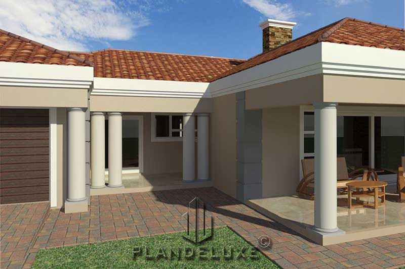 5 Bedroom Single Story House Floor Plan Home Designs Plandeluxe In 2020 Single Storey House Plans House Plans For Sale House Plans South Africa