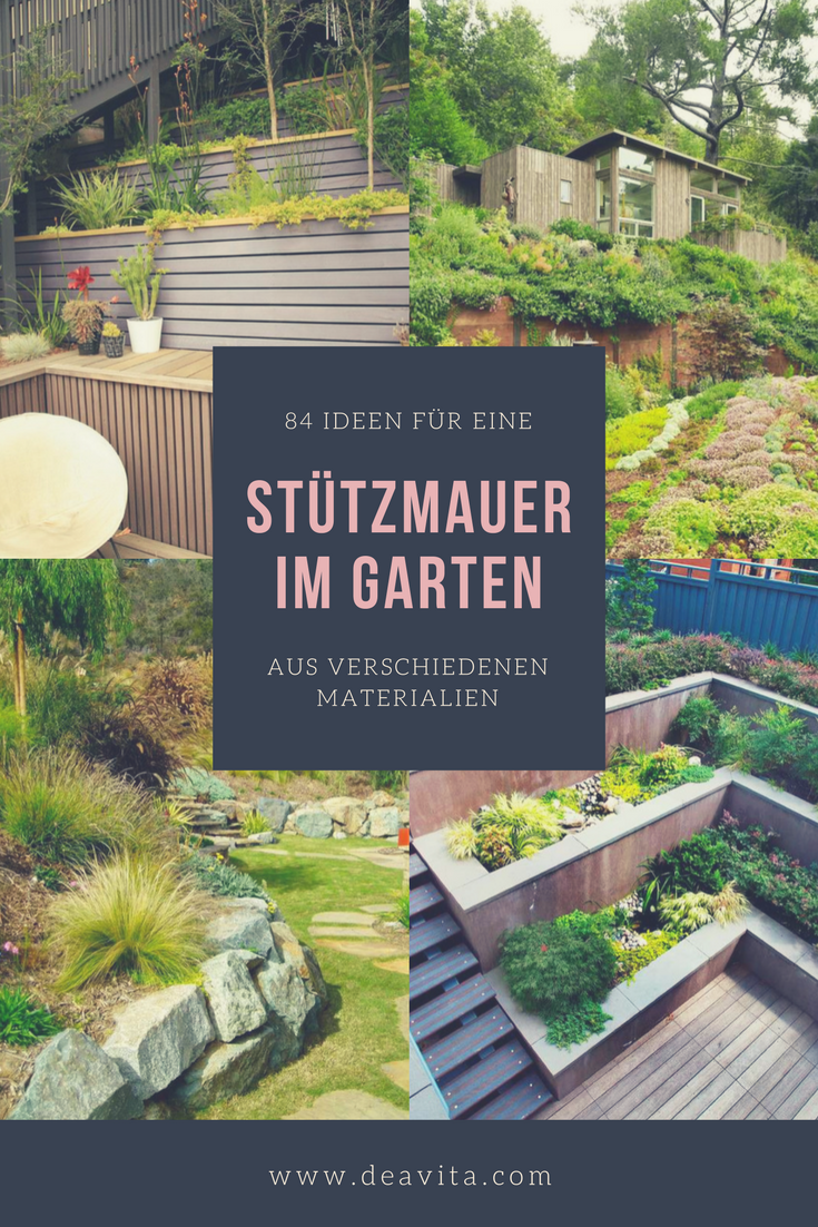 Die Stutzmauer Im Garten Ist Ein Gestaltungsund Landschaftselement Von Zentraler Bedeutung Beim Errichten Der Gartenmauer Ist Ein Optimales Erscheinungsbild Der In 2021 Garden Wall Garden Boxes Diy Garden Deco