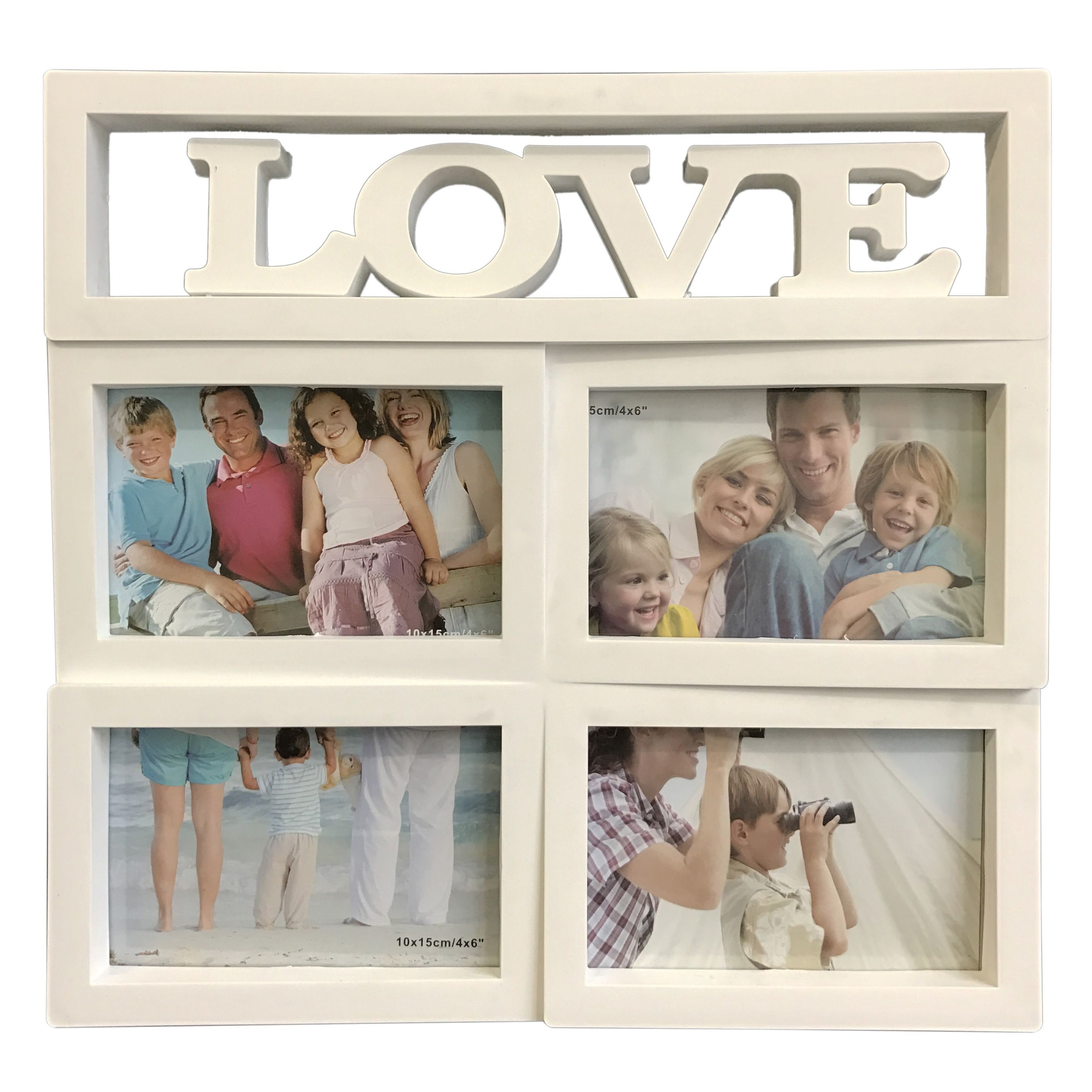 Beyond Love Collage Picture Frame (White), Size 4x6 (Plastic ...