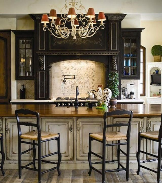 Habersham Kitchen - love the wood colors for the bar area Around