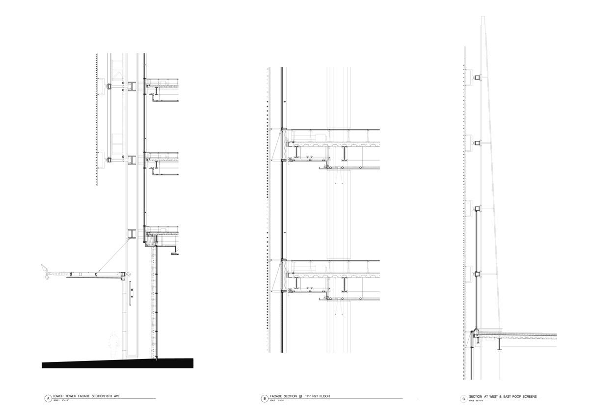 New York Times Building Renzo Piano Detail Drawings