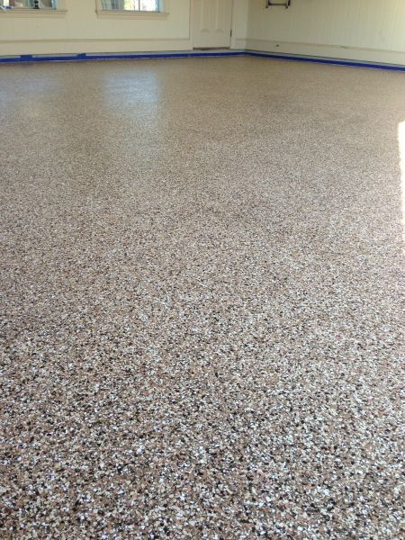 Garage Epoxy Flooring Full Broadcast Flake Epoxy Floor