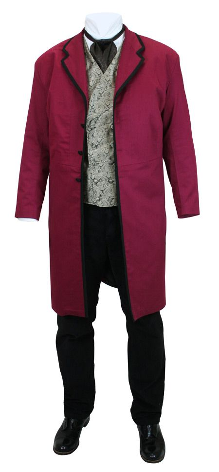 Waltham Frock Coat - Burgundy | The Butcher | Pinterest | Frock ...