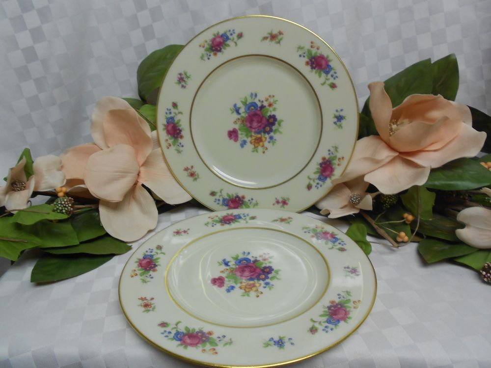 Lenox China Dinnerware Lenox Rose pattern # J300 Set 2 dinner plates ...